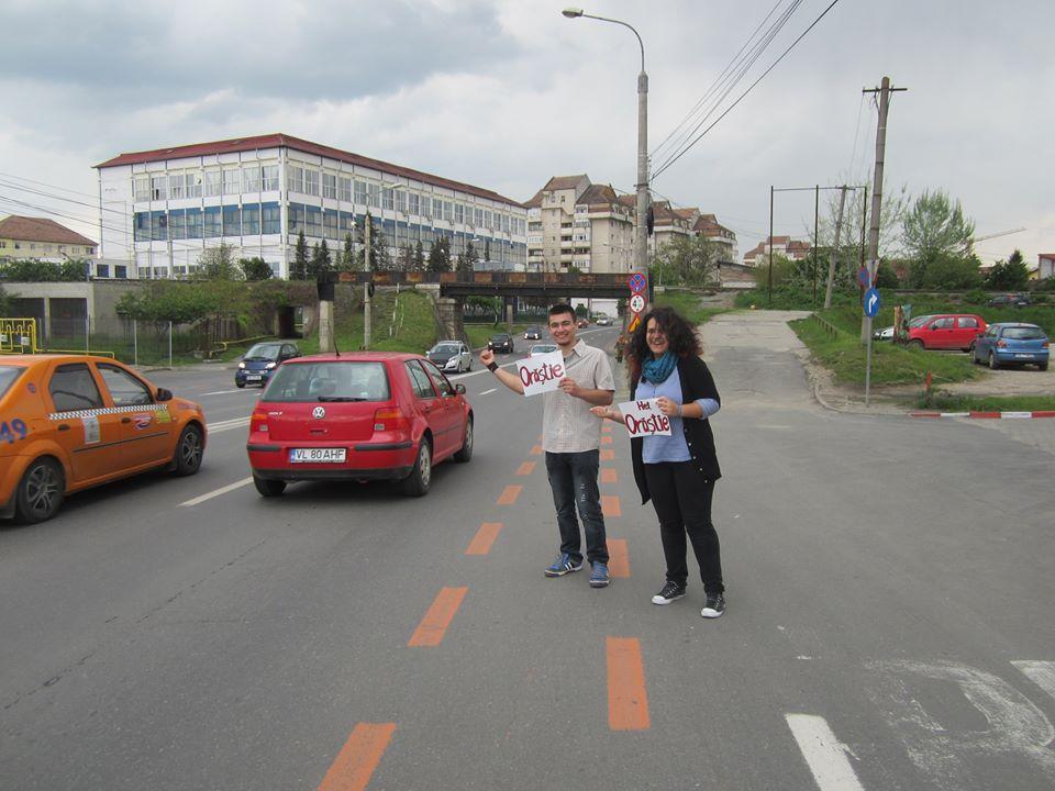 Prima calatorie cu auto-stopul